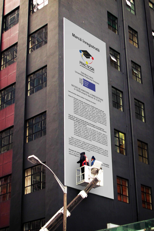 Panou publicitar POLITEHNICA TIMISOARA - Marca inregistrata